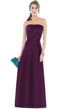 Satin Purple Beautiful Bridesmaid Dresses BNNAD1150-SheinDressAU