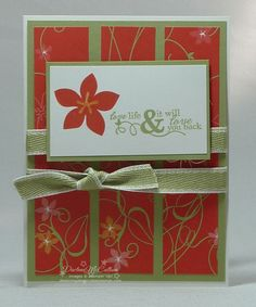 Stampin Up Cottage Garden