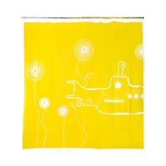 Okay, if I HAVE to have a shower curtain, this would be a happy choice. Yellow Submarine Shower Curtain   dotandbo.com