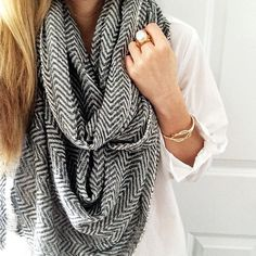 Love the herringbone scarf