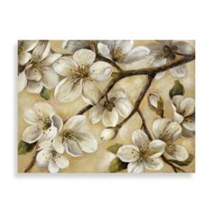 """""""Paces"""" Floral Canvas Art - BedBathandBeyond.com  Possibly for the wall?"""