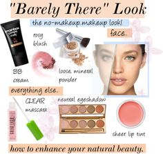 """""barely there"" makeup look."" by amberpolyvore ❤ liked on Polyvore"