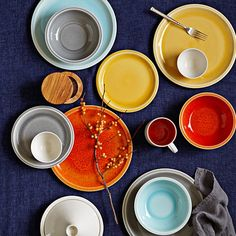 Jars Cantine 16-Piece Dinnerware Place Setting | Williams-Sonoma - want in orange