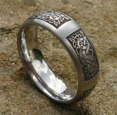 Celtic Animal Titanium Rings Celtic Dog Ring