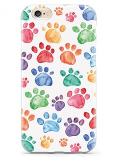 Give your iPhone 6 & cell phone a unique style all its own. This Watercolor Paw Prints Case was professionally created and printed in the United States for all the pet owners out there! Textured printing raises parts of the images, creating a unique fe Ipad Mini Accessories, Pet Accessories, Iphone Shop, Iphone Cases, Iphone 6, Pallet Dog Beds, Galaxy Note 3, Galaxy S3, Gadgets And Gizmos