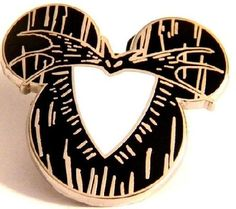 Disney Pin Mystery Pouch Mickey Mouse Icon - Nightmare Before Christmas Jack Skellington Disneyland