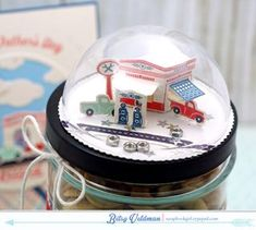 Garage Gift Topper by Betsy Veldman for Papertrey Ink (May 2015)