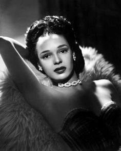 Dorothy Dandridge's Pearls and Velvet Bustier - Old Hollywood Style Inspiration - Photos