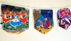 Alice in Wonderland - Storybook Paper Bunting by MagpieSailor, $14.50