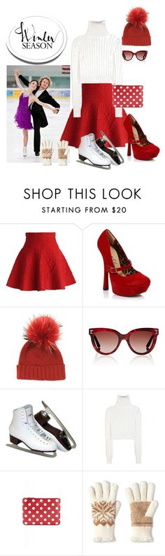 """""""Going Skating!"""" by brandonandrews500 ❤ liked on Polyvore featuring Chicwish, Ellie, Inverni, Valentino, Calvin Klein Collection, Comme des Garçons and Isotoner"""