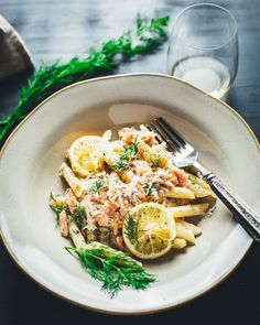 Creamy Lemon Vodka Salmon Penne Pasta
