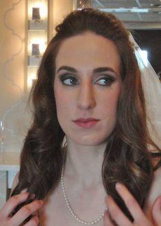 Plum smoky eye bridal makeup by Philadelphia area makeup artist Jill Suzanne