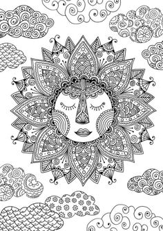 See More Sun Coloring Page By Felicity French