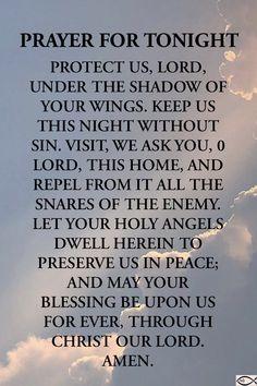 Goodnight Quotes Inspirational, Inspirational Prayers, Prayer For Today, Daily Prayer, Good Night Prayer Quotes, Prayer For Guidance, Living Bible, Short Prayers, Powerful Prayers