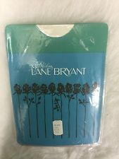 Vintage Close Packaging Lane Bryant Size 10.5 Ample Top Seamless Pantyhose Sand