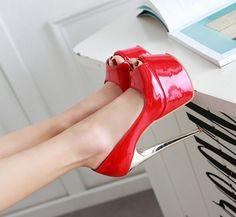 Womens High Stilettos Platform High Heel Peep Toe Sandal Shoes Nightclub Plus Sz #Unbranded #Stilettos