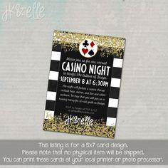 Elegant Casino Night Invitation