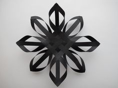 DIY black paper tree topper from Design and Form