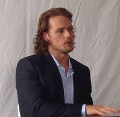 Sam being interviewed at Comic Con