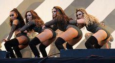 The girls performing at V Festival 2016