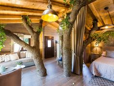Atsipopoulo house rental - The treehouse is spacious and provide ample light throughout the day! Treehouses, Jacuzzi, Villa, Relax, Holiday, Home Decor, Railings, Staircases, Vacations