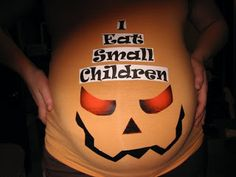 Lol def need to get this for Halloween...the look on kids faces when you tell them there is a baby in your belly is priceless...