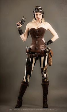 From the Steampunk Fashion Guide's Guide to Corsets - Overbust corsets: Airship…
