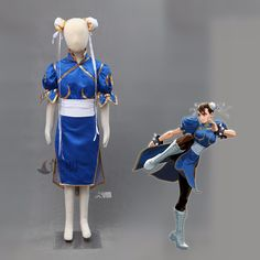 ==> [Free Shipping] Buy Best Athemis Street Fighter Cosplay Chun-Li cosplay costume child outfit and women set custom made size Online with LOWEST Price   32721078788