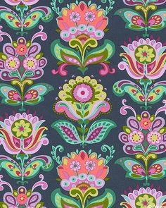 Amy Butler - Bright Heart - Folk Blooms - Quilt Fabrics from www.eQuilter.com