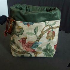 Strikkepose , projekttaske. Syet i stof fra Stof2000. Januar2018