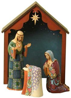 Images of beaded nativity sets | ... Heartwood Creek HOLY FAMILY W/STABLE SET Nativity Figurine 4027784