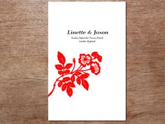 Chinese Paper-art printable wedding program from e.m.papers