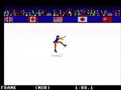 Winter Games by Epyx for C64, released in 1985. Figure Skating was one of my favorite events. This had no IOC licensing.