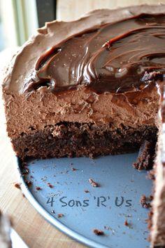 No Bake, Hot Fudge Chocolate Cheesecake 2