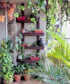 Ein Balkongarten in Mumbai: Terrace Reveal - Balcony garden - Terrasse Small Balcony Design, Small Balcony Garden, Small Balcony Decor, Balcony Plants, Patio Design, Garden Design, Terrace Garden, Brick Garden, Balcony Gardening