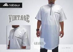BAJU MUSLIM PRIA BAJU GAMIS NABAWI CLOTHES VENTAGE GAMIS PAKISTAN LENGAN PENDEK WARNA PUTIH POLOS