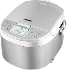 Philips - Avance Collection 4.2-Quart Multi Cooker - Silver, HD3095/87