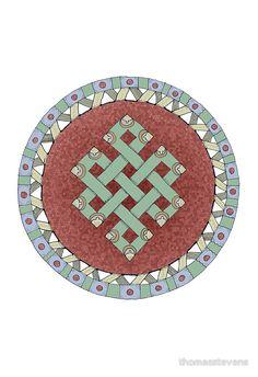 """The Endless Knot Mandala"" by thomasstevens | Redbubble"