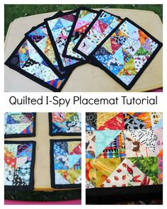 I Spy Placemat Tutorial