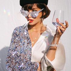 When they say you have a bright future ft 🌝💎 . Glitter Photography, Fashion Photography, Photography Ideas, Poses Modelo, Mode Collage, Boujee Aesthetic, Aesthetic Outfit, Bright Future, Glitz And Glam