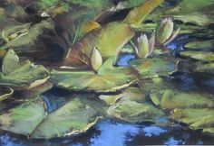 """Reception for """"Two Friends-New Journeys in Painting"""" pastels exhibit by PJ Aduskevicz and Olya Powzaniuk will be held Monday, Aug. 10, 5-7 p.m. Ptg. is Closing Up Monet's Pond by Olya Powzaniuk."""