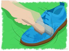 Oh my Goodness totally need this for my blue suede sneaker heels! How to clean suede shoes on WikiHow Clean Suede Shoes, How To Clean Suede, How Do You Clean, Blue Suede Shoes, Me Clean, Suede Sneakers, Diy Cleaners, Cleaners Homemade, Cleaning