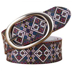 2018 Fashion Genuine leather Belts for women High quality Printing Plaid Wide belt woman Pin buckle female strap second cowskin Fashion Belts, Leather Fashion, Women's Fashion, Urban Fashion, Leather Belts, Cow Leather, Women's Belts, Leather Buckle, Feminine Fashion