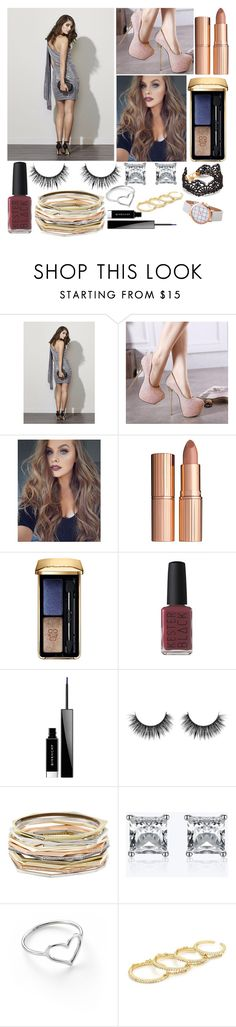 """One Shoulder Dress"" by lexi-lovegood ❤ liked on Polyvore featuring Fame & Partners, Charlotte Tilbury, Guerlain, Kester Black, Givenchy, Kendra Scott, Jordan Askill and Fallon"