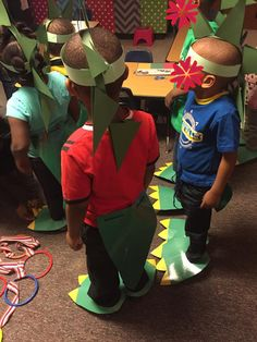Dinosaur Hats Tails And Feet We Went On A Hunt Through Our School
