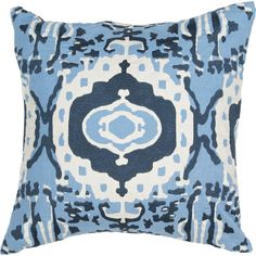 Showcasing a tribal-inspired motif, this stylish cotton pillow is perfect offsetting neutral-hued upholstery or bedding.  Product: