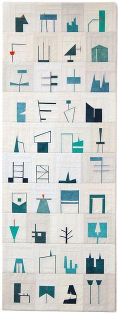 shape study quilt #2, 2011 by erin wilson