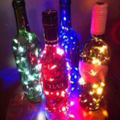 Cool wine bottle lights