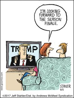 Moderately Confused by Jeff Stahler, hilarious Trump cartoon Political Satire, Political Cartoons, Trump Cartoons, Read Comics, Humor, Donald Trump, How Are You Feeling, Jokes, Shit Happens