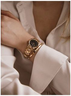 Fancy Watches, Trendy Watches, Gold Watches Women, Rose Gold Watches, Vintage Watches, Luxury Watches Women, Gold Rolex Women, Rolex Watches, Men's Rolex